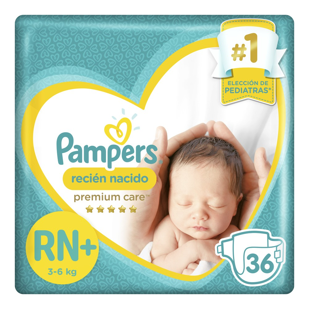 Pañales Premium Care Recién Nacido RN+