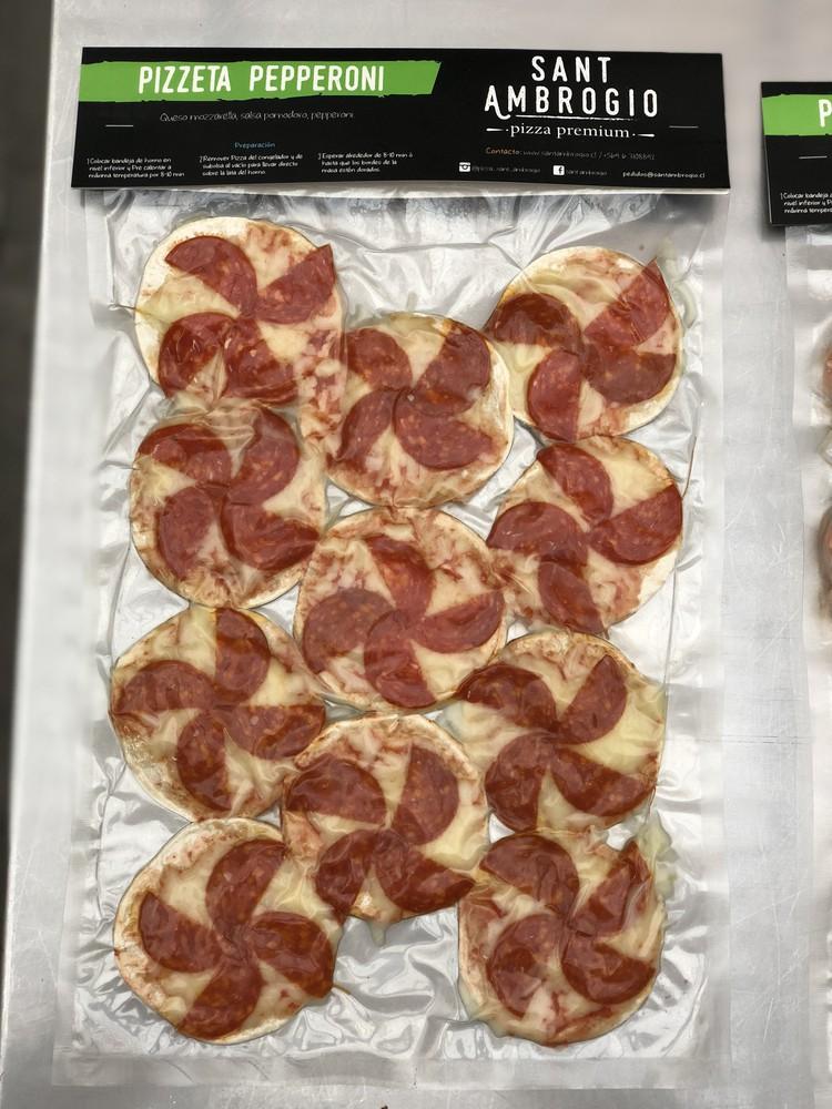Pizzeta pepperoni 11 pizzetas por bolsa (9 cms diametro)