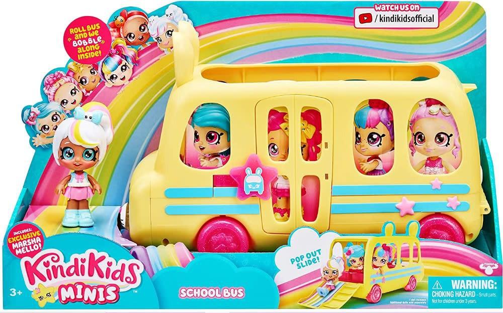 Shopkins kindi kids school bus c/muñeca marsha mello