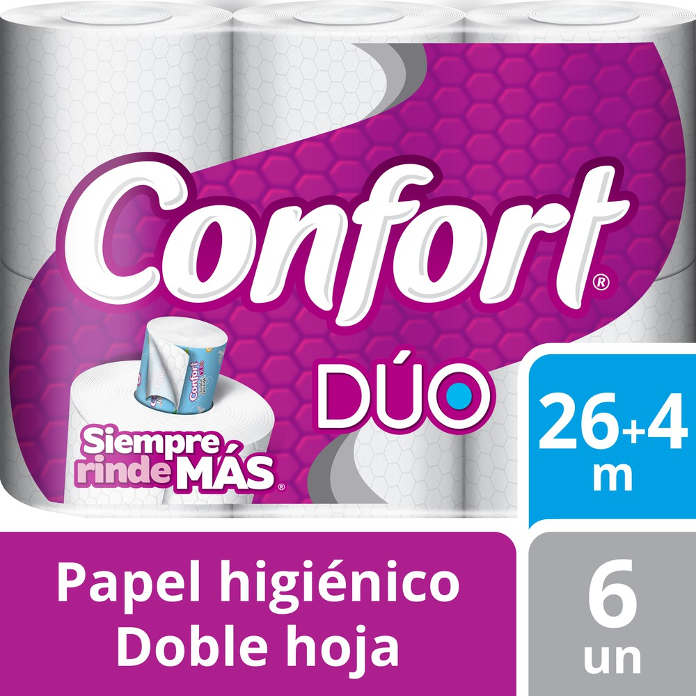 Papel higiénico dúo doble hoja