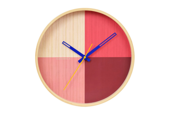 Reloj cloudnola flor wall red
