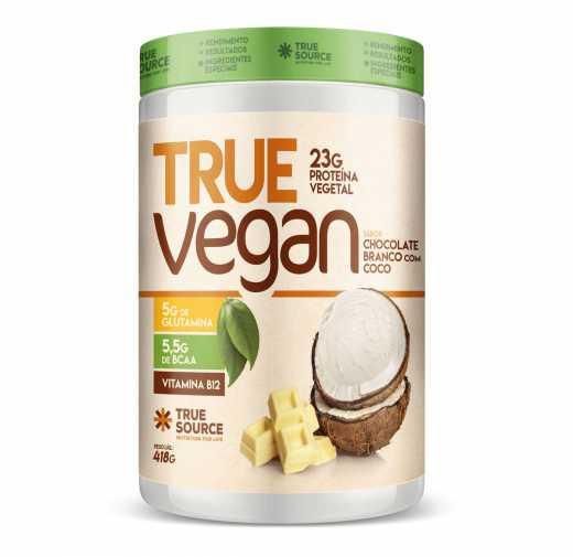 True vegan chocolate branco com coco 418g