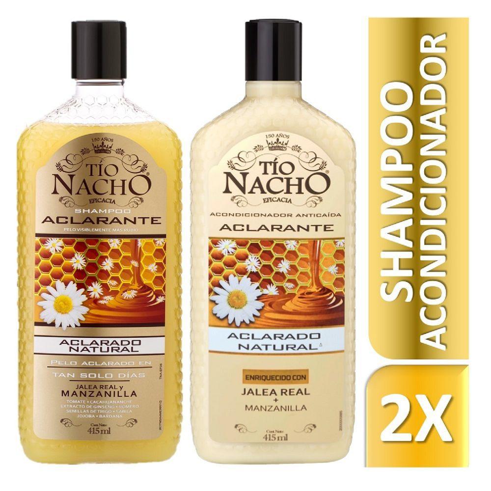 Shampoo y acondicionador aclarante