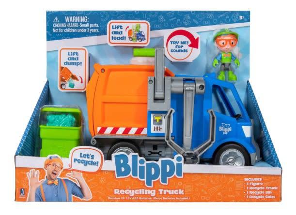 Blippi vehículo camión de reciclaje c/sonido