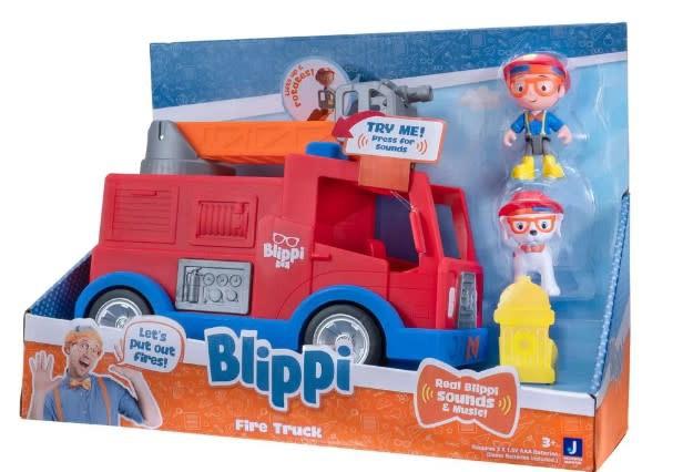 Blippi vehículo camión de bomberos c/sonido