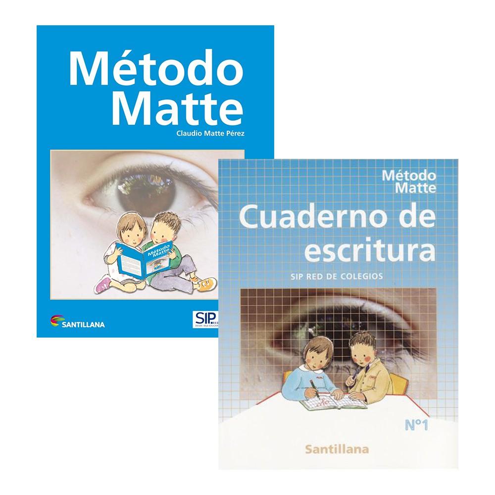 Pack método matte y cuaderno de escritura santillana