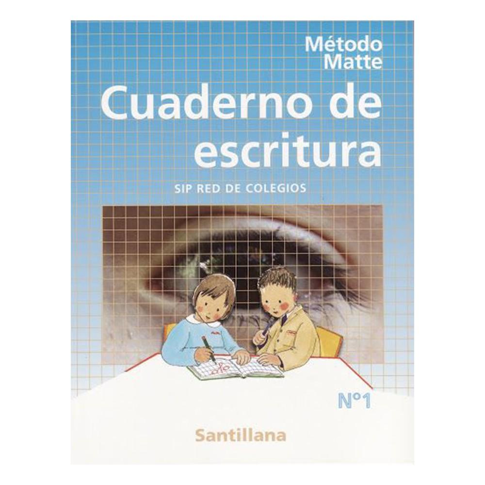 Método matte cuaderno de escritura santillana