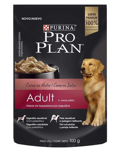 Alimento húmedo para perro carne en salsa