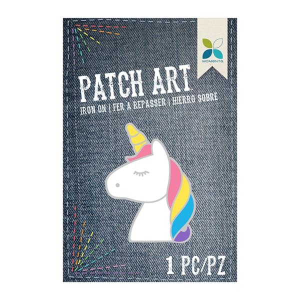 Parche tela bordada unicornio 5 x 7 cm aprox