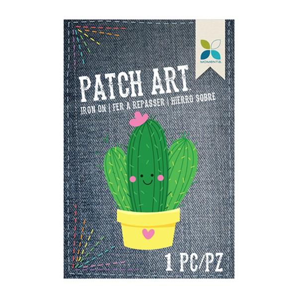 Parche decorativo tela bordada cactus