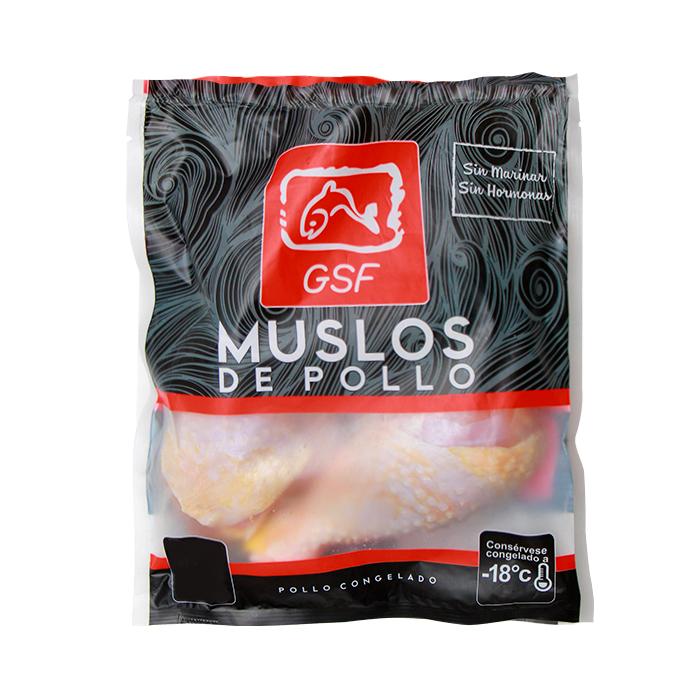 Muslos de pollo congelados