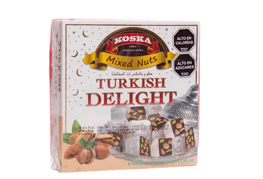 Delicias turcas con mix de frutos secos 250 gr.