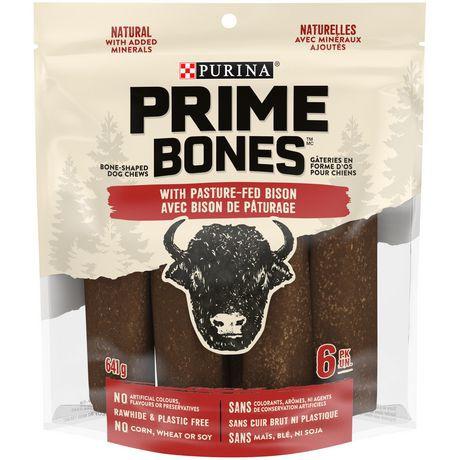 Prime Bones dog chews with pasture-fed bison