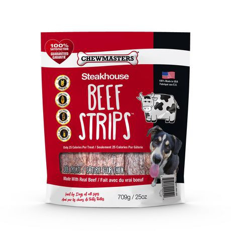 Steakhouse beef strips dog treat