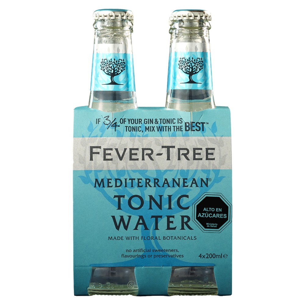 Pack Bebida tónica Fever tree mediterránea Pack 4 x 200 ml c/u