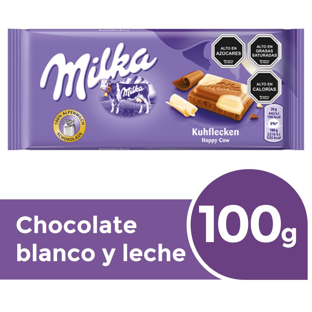 Chocolate de leche con chocolate blanco