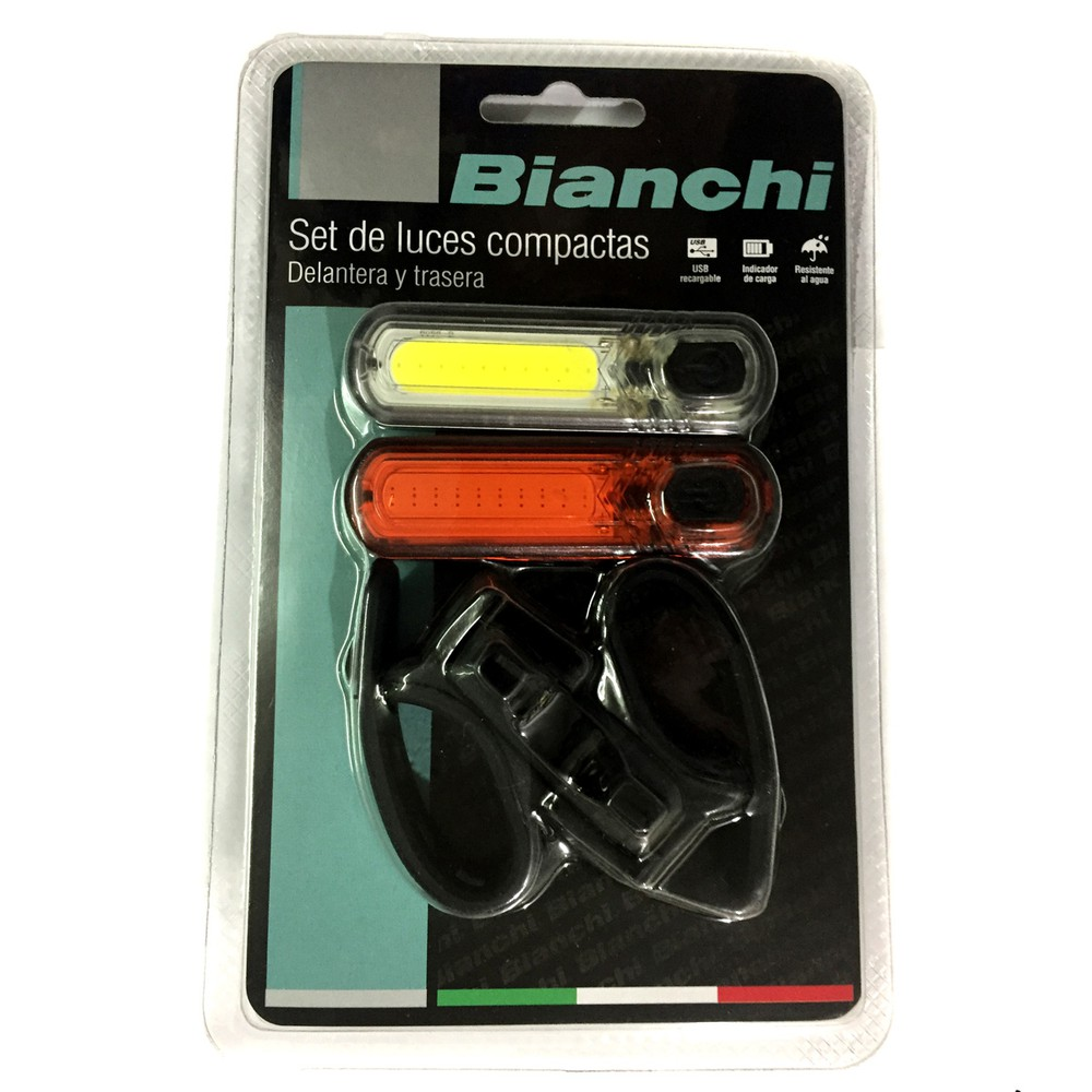 Luz recargable usb delantera / trasera 65 lumens