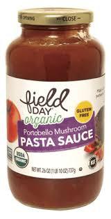 Salsa Orgánica de tomate y Champiñones - Sin Gluten