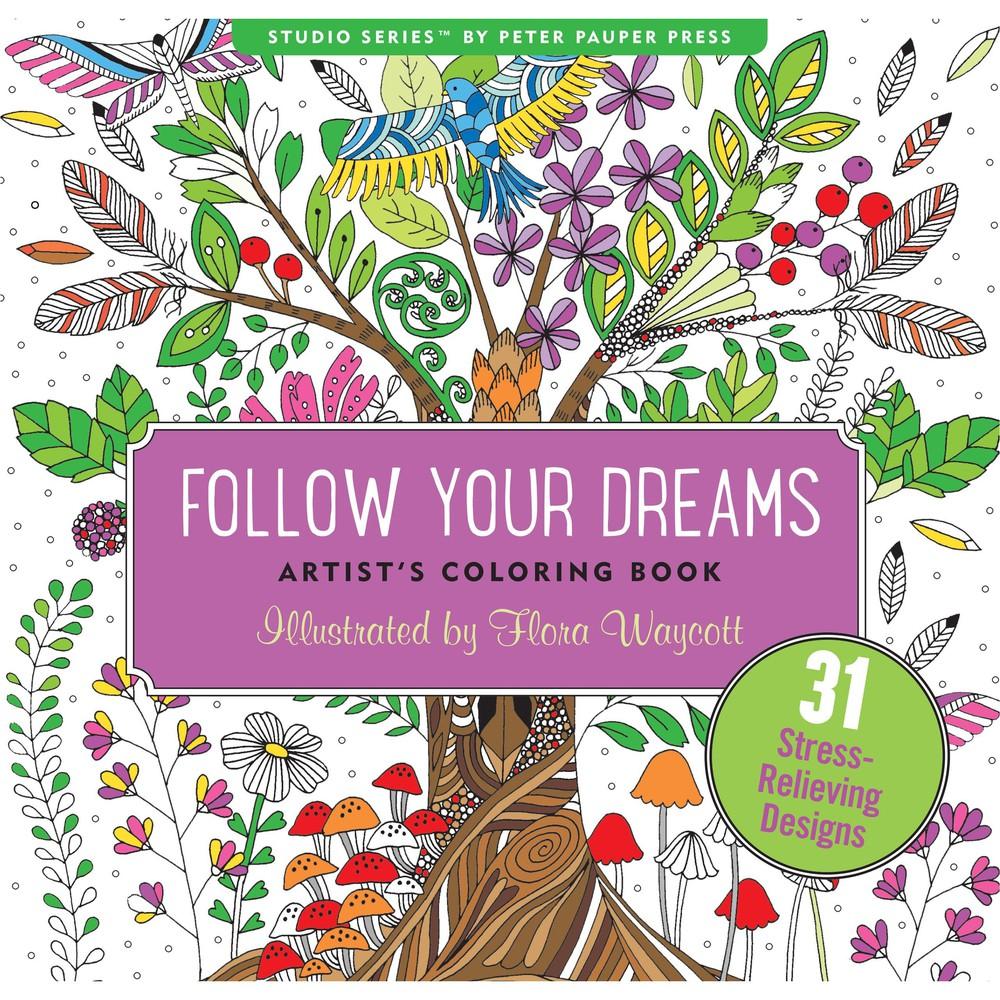 Libro para pintar adultos dreams árbol