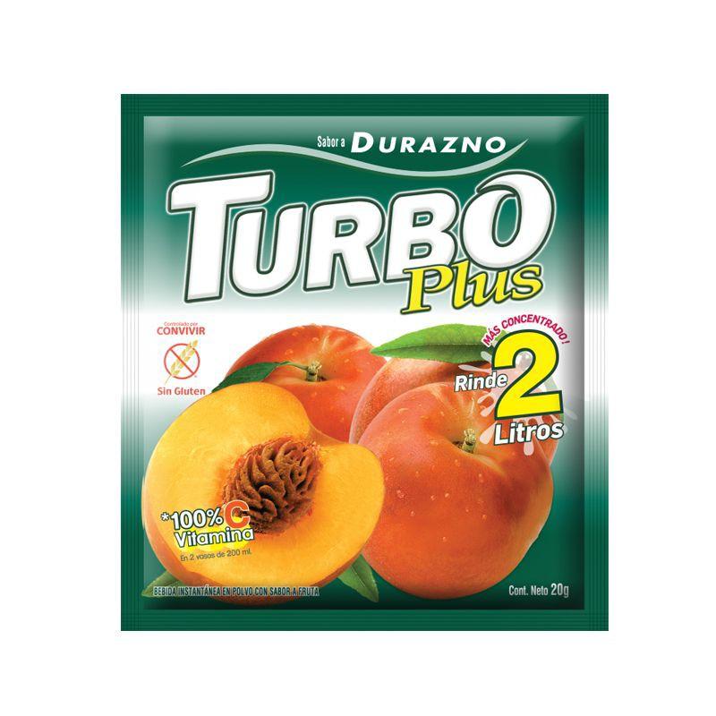 Turbo plus durazno (sin gluten)