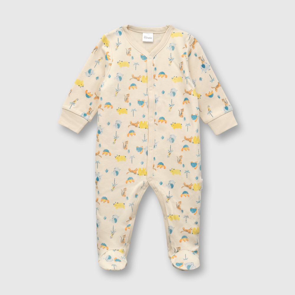Oso de bebé niño safari beige (0 a 6 meses)