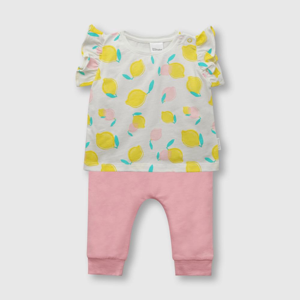 Conjunto de bebé niña frutas blanco (0 a 6 meses)