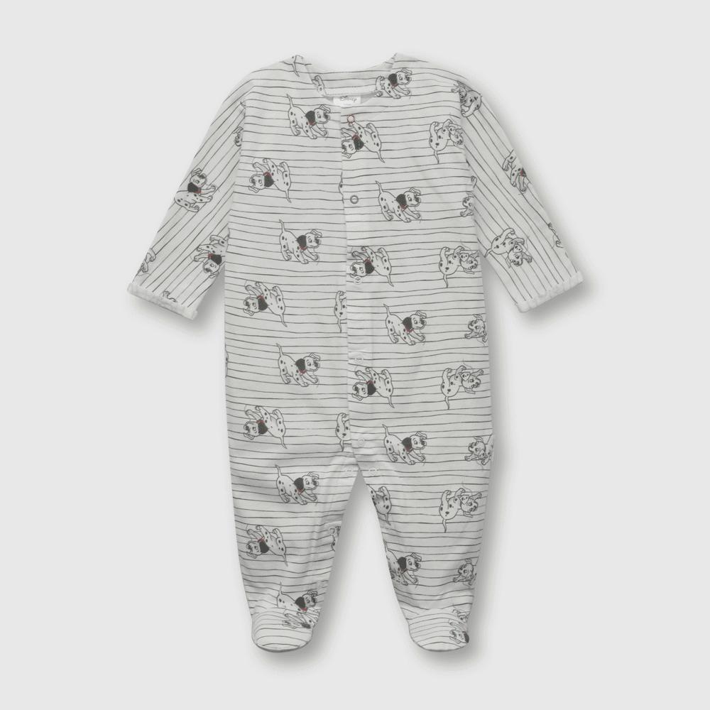 Oso de bebé niño dalmatas blanco (0 a 6 meses)