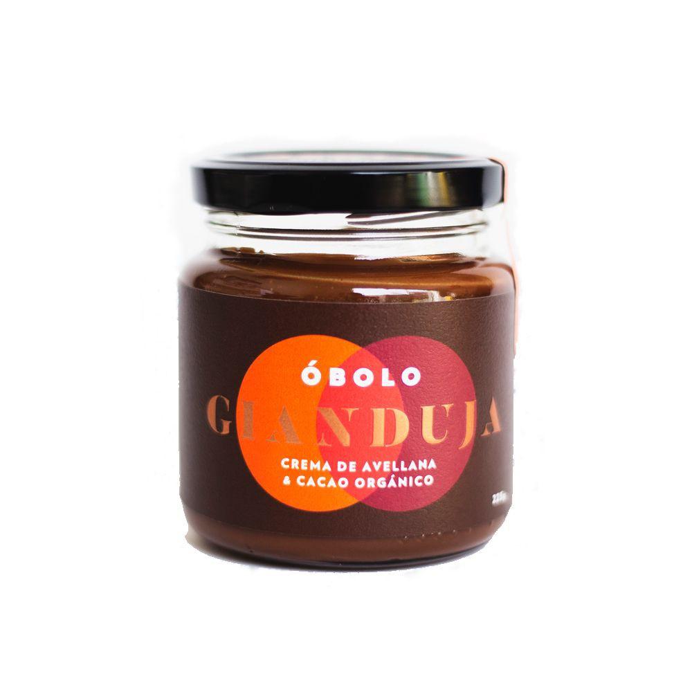 GIANDUJA - Crema de Avellana y Cacao Órgánico Frasco 225 gramos