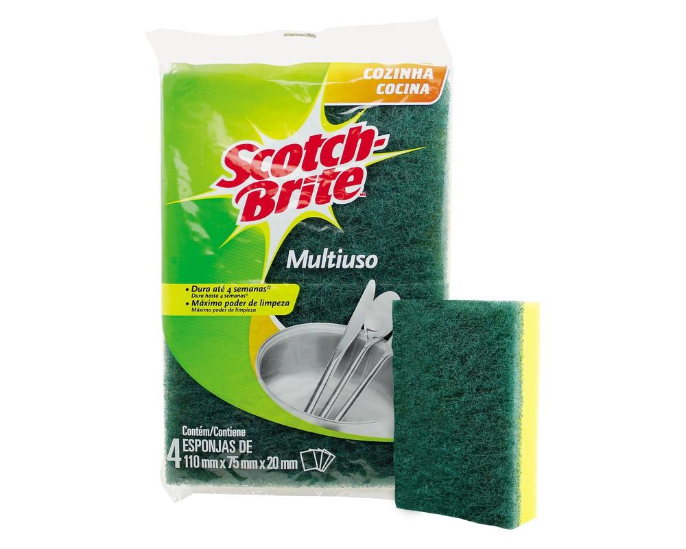 Pack 4 esponja lisa cocina