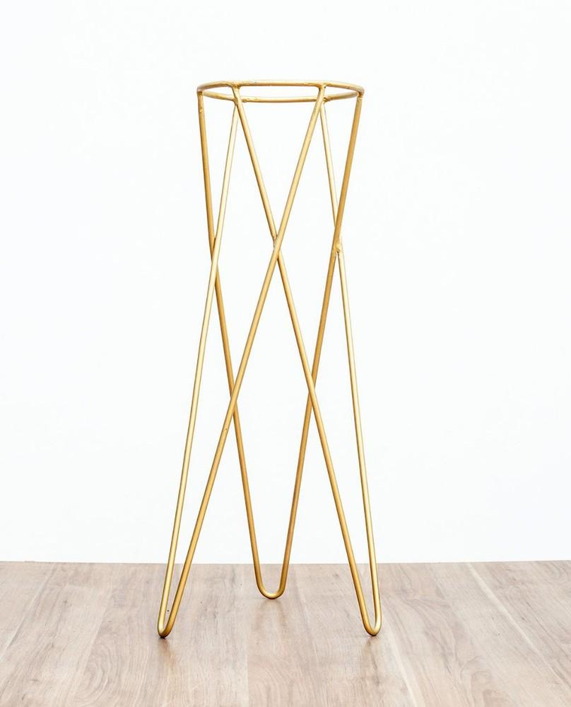 Pedestal dorado 70 cm