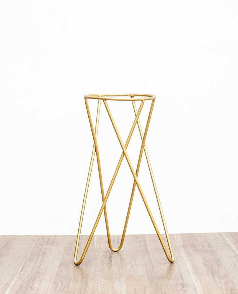 Pedestal dorado 50 cm