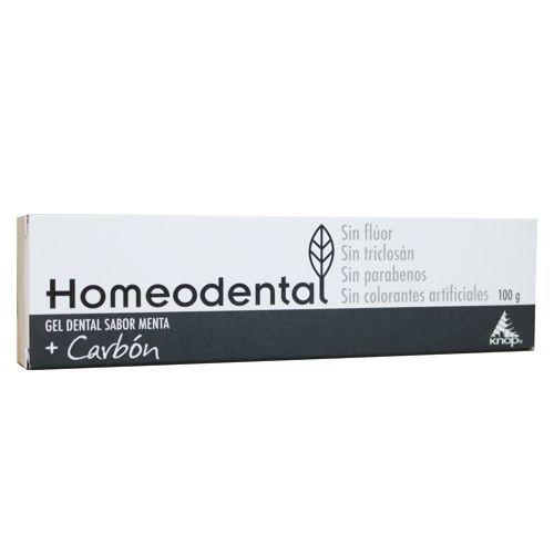 Pasta dental gel c/carbón 100 g, homeodental