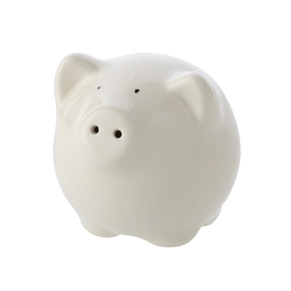 Salero Pig Blanco Ancho: 6 cm  Largo: 6 cm  Alto: 7 cm
