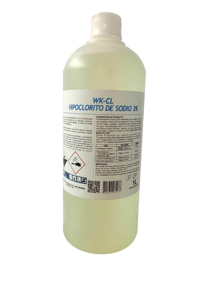 Hipoclorito de sodio 3%