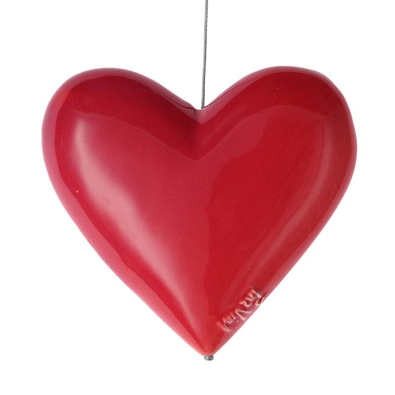 Corazón colgar 4 Ancho: 4 cm  Largo: 13 cm  Alto: 13 cm