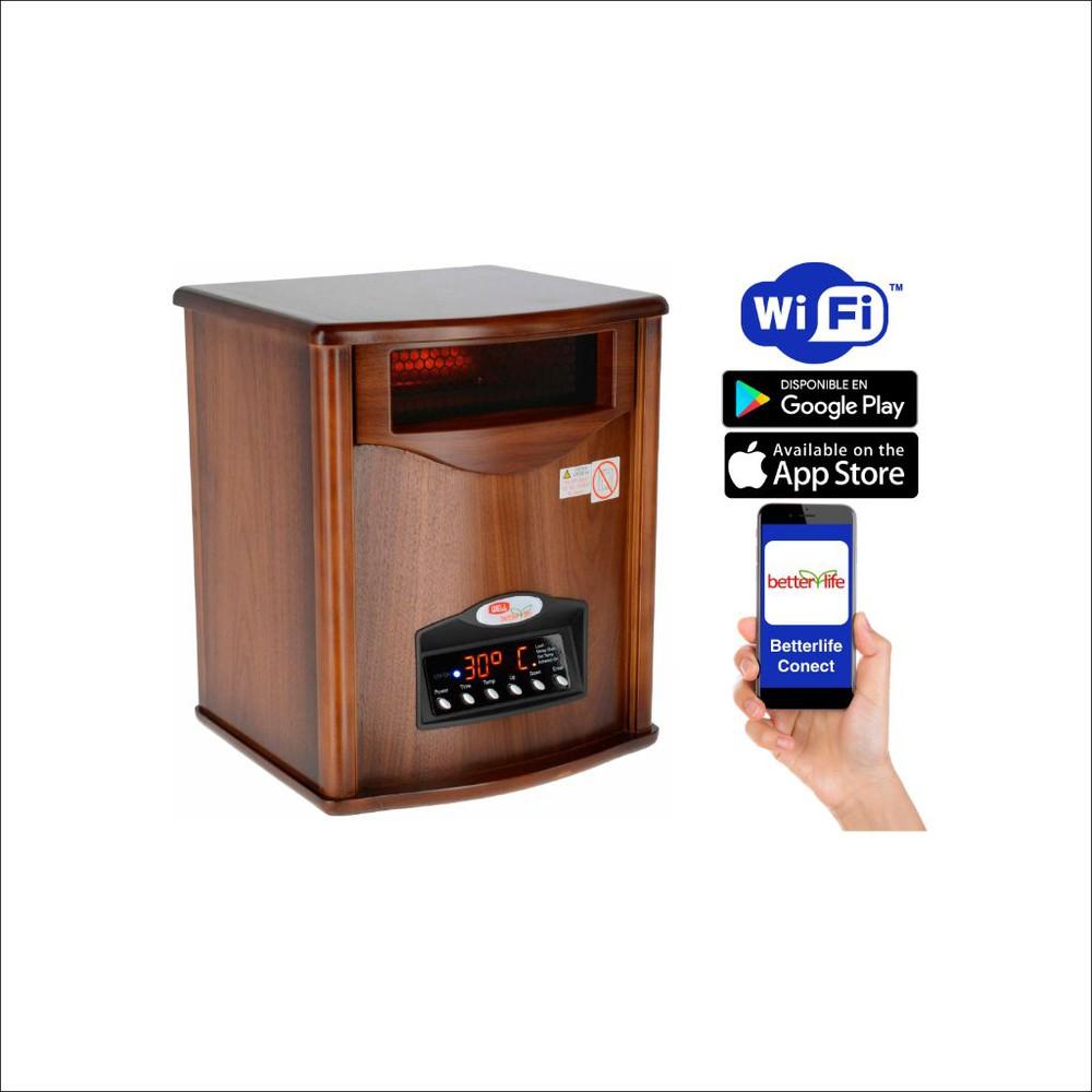 Estufa infrarroja madera uv 70 m2 1500 W
