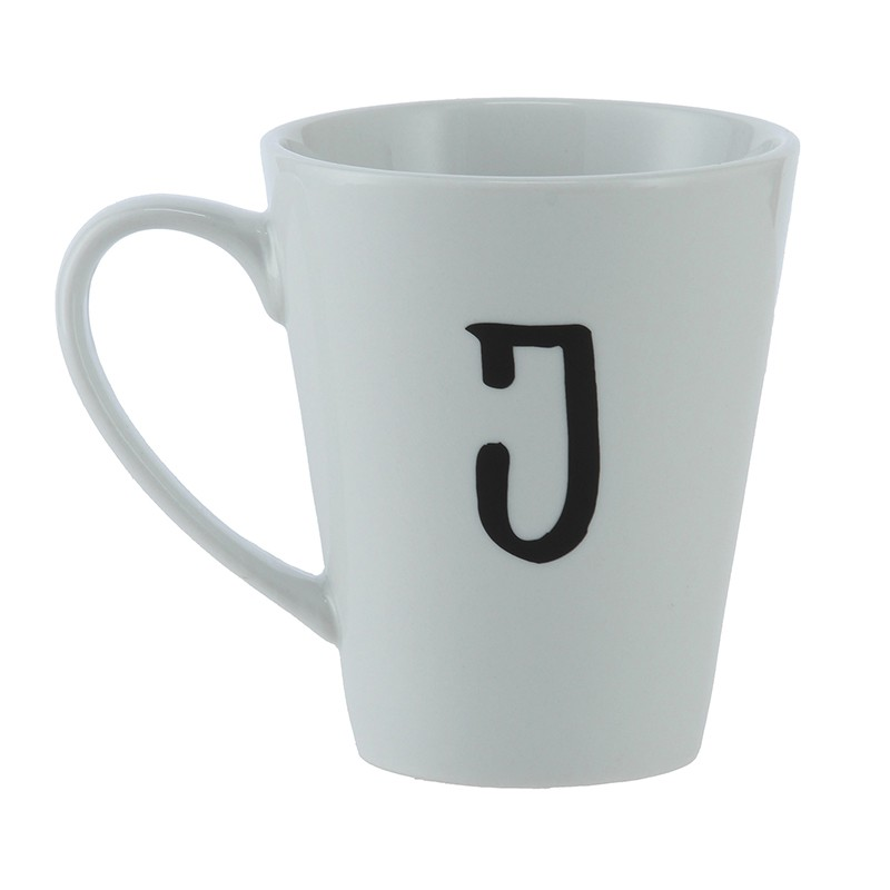 Mug J Ancho: 16 cm   Largo: 9 cm   Alto: 11 cm