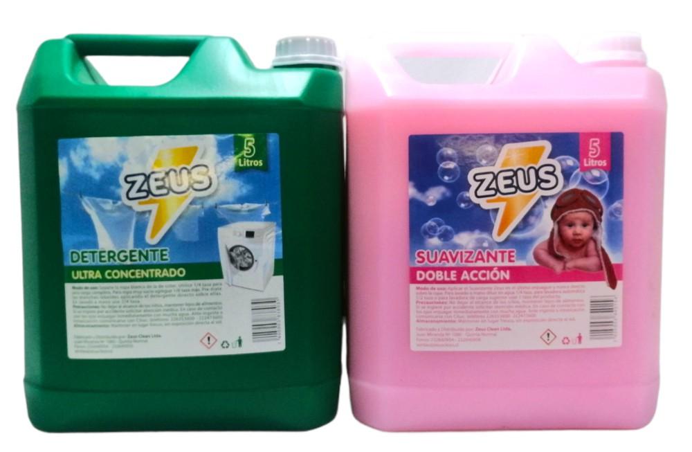 Pack detergente + suavizante Bidón 5 lt.