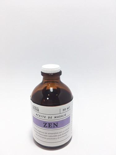 Aceite de masaje zen Frasco 50 ml.