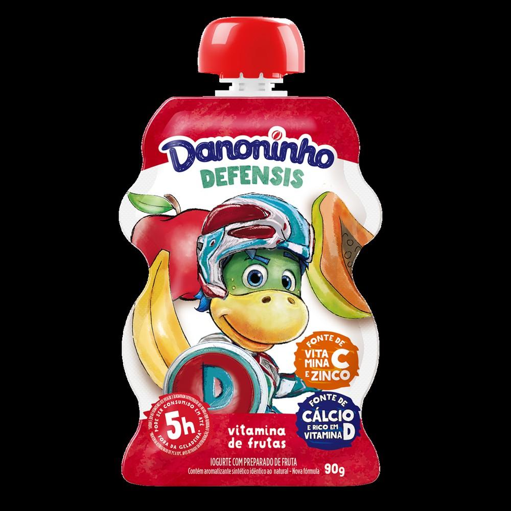 Iogurte com preparado de frutas Defensis vitamina de frutas