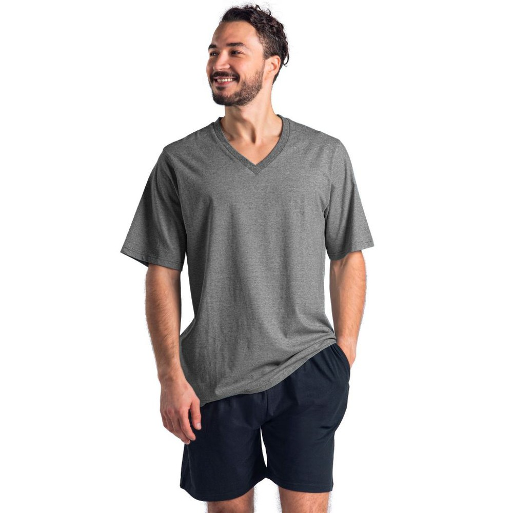 Pijama corto algodón mt30125 negro