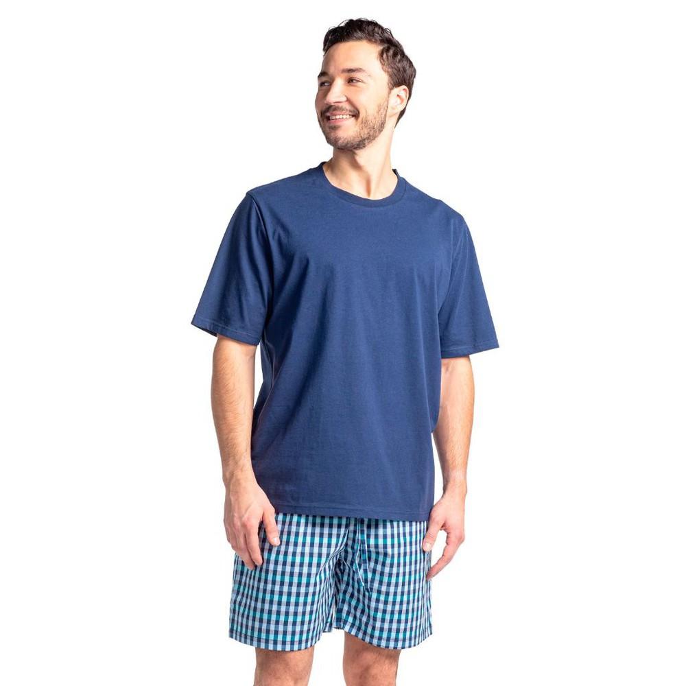 Pijama corto algodón mt30126 azul