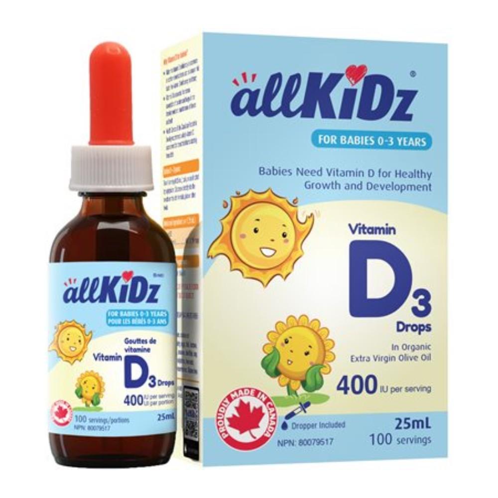 Vitamin D3 drops 400 IU