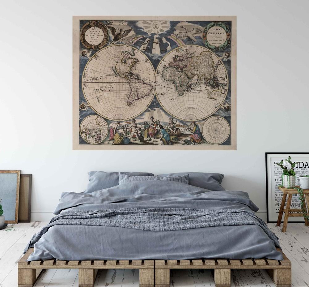 Deco mural mapa mundi tierra nueva