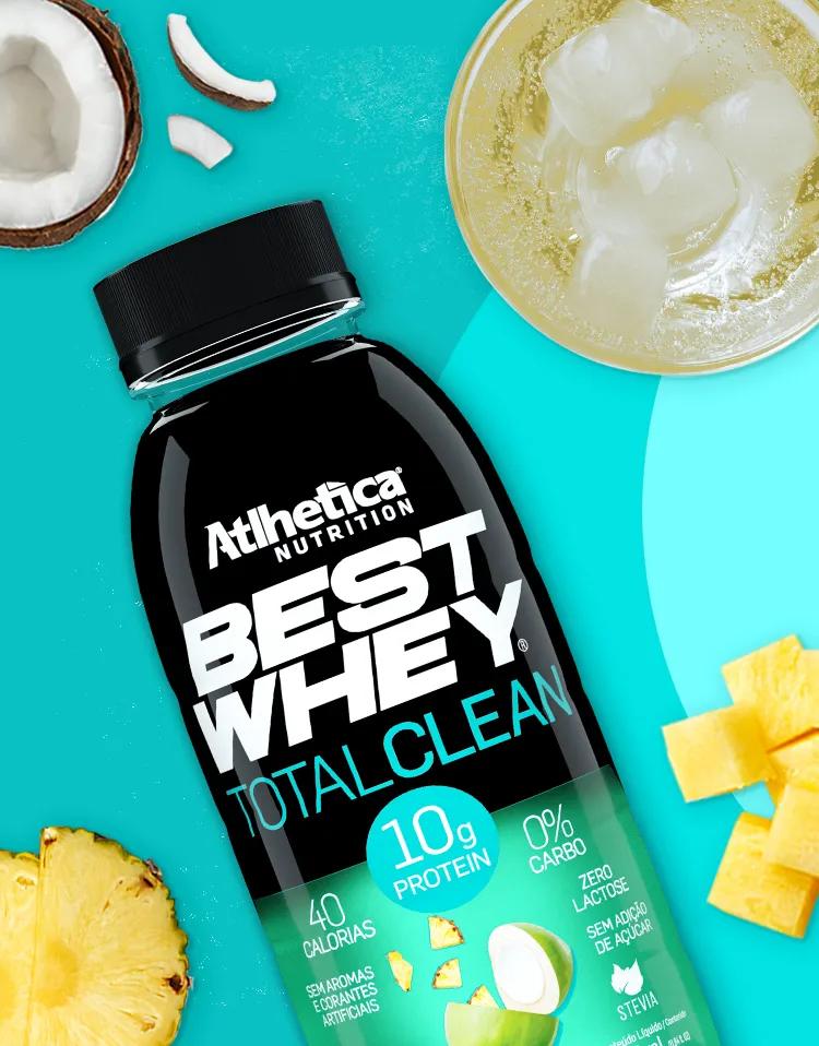 Best whey total clean sabor água de coco com abacaxi