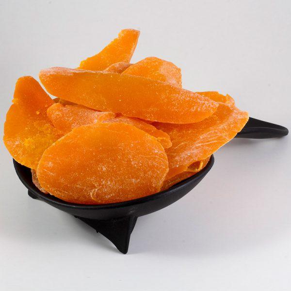 Mango deshidratado reducido en azúcar