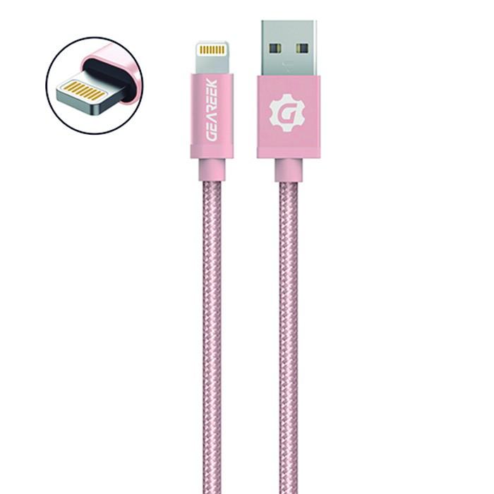 Cable premium lightning iphone 80cm rosado