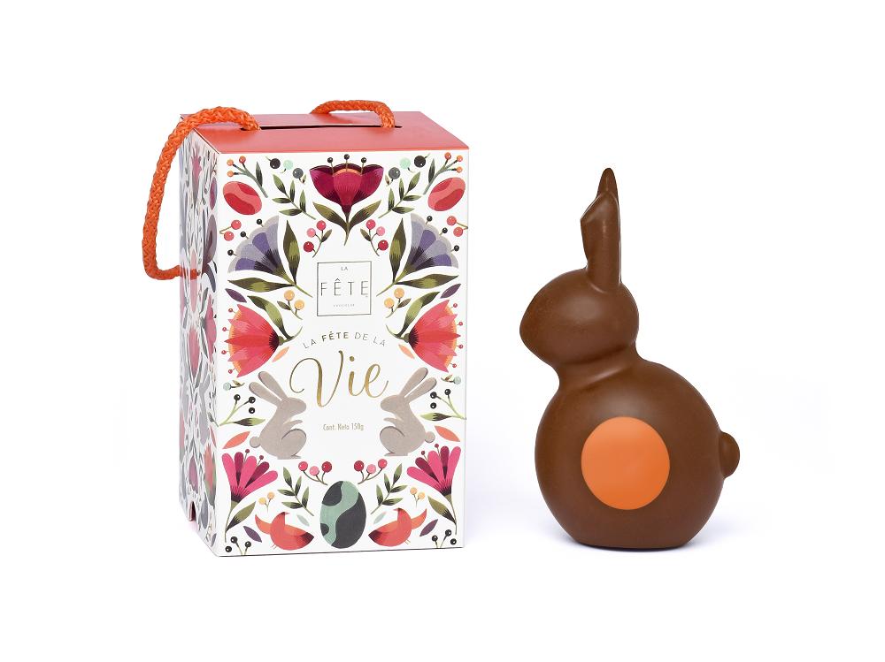 Conejo de chocolate leche 150g
