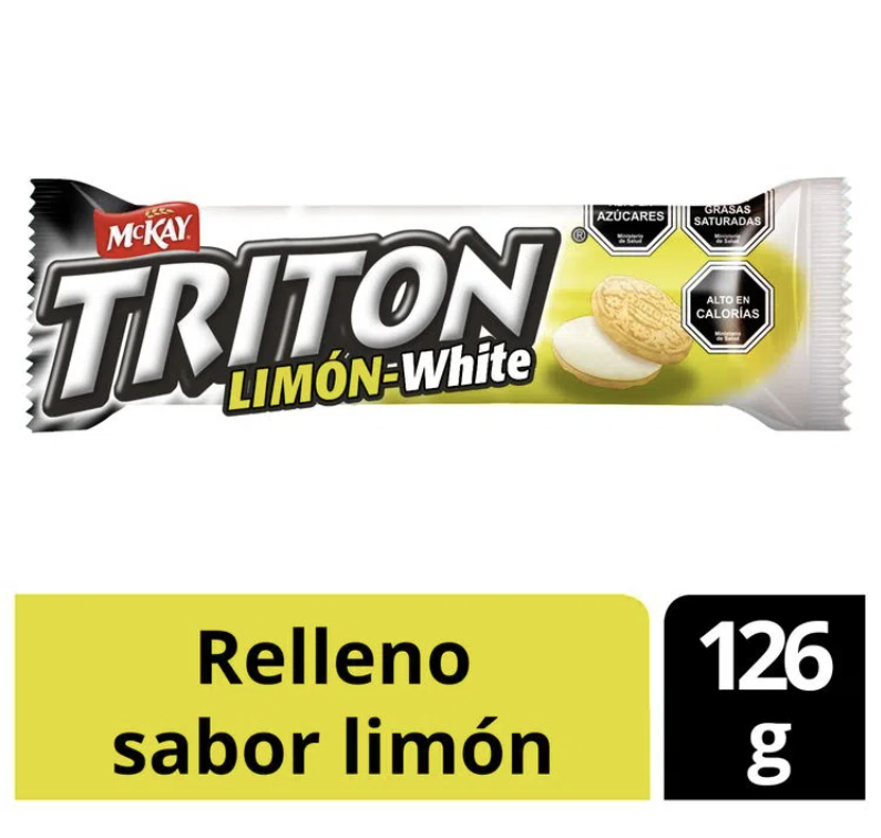 Galleta sabor vainilla con relleno limón