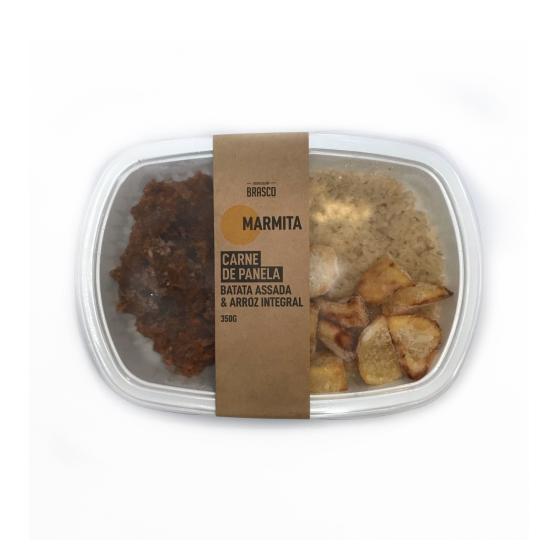 Marmita carne de panela, arroz e batata Brasco